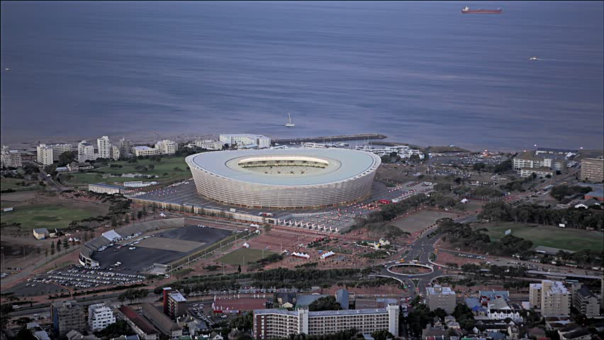 Cape Town Stadium / Cape Town / 2010-June-17 / people entering the stadium / day into night / time-lapse  /  4K and UHD available on request!