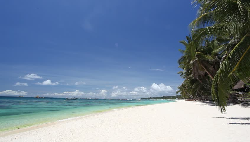 Tropical coastline with white sand, Philippines, Boracay   | Shutterstock HD Video #4078567