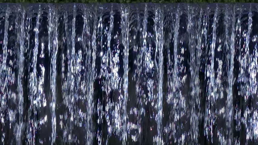 Computer Generated Water Curtain Or Waterfall Seamless