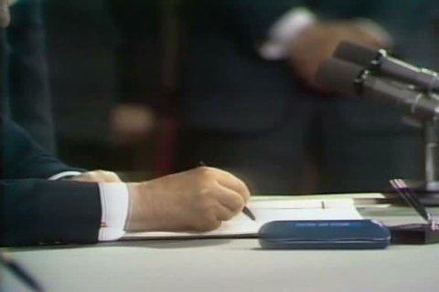 1970s - SALT 2 treaty signing in Vienna in 1979.