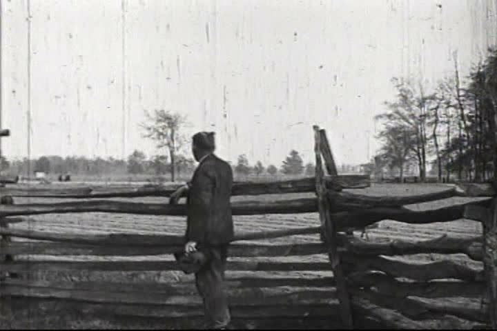 1920s - A farmer using an old fashioned plow is convinced to use a tractor, in 1924.