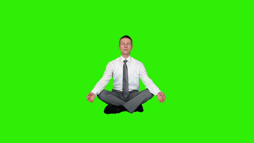Young Relaxed Businessman Meditating, Green Stock Footage Video (100%  Royalty-free) 4141807 | Shutterstock