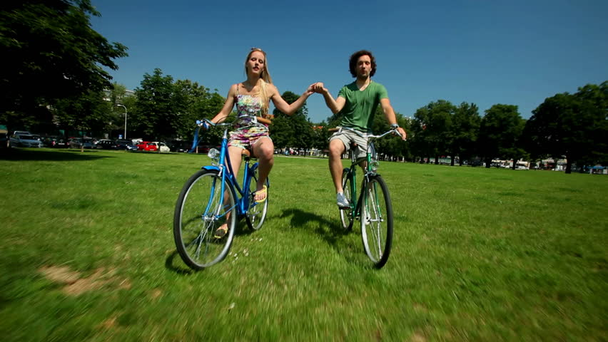 Mature Asian Couple Riding Tandem Bicycle Stock Footage Video 4656989  Shutterstock-2419