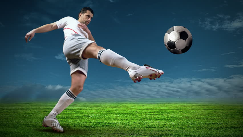 Soccer Backgrounds Stock Photo: Timelapse View Of Soccer Player Stock Footage Video (100