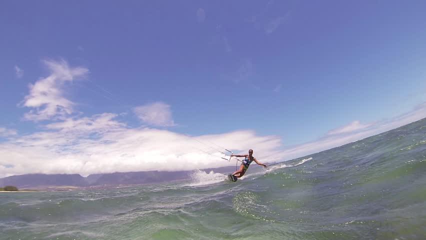 Kite Boarding, Fun in the ocean, Extreme Sport HD Video | Shutterstock HD Video #4167292