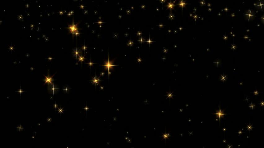 Falling gold star animation loop | Shutterstock HD Video #4252058