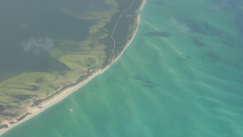 Areal View of Caribbean Ocean