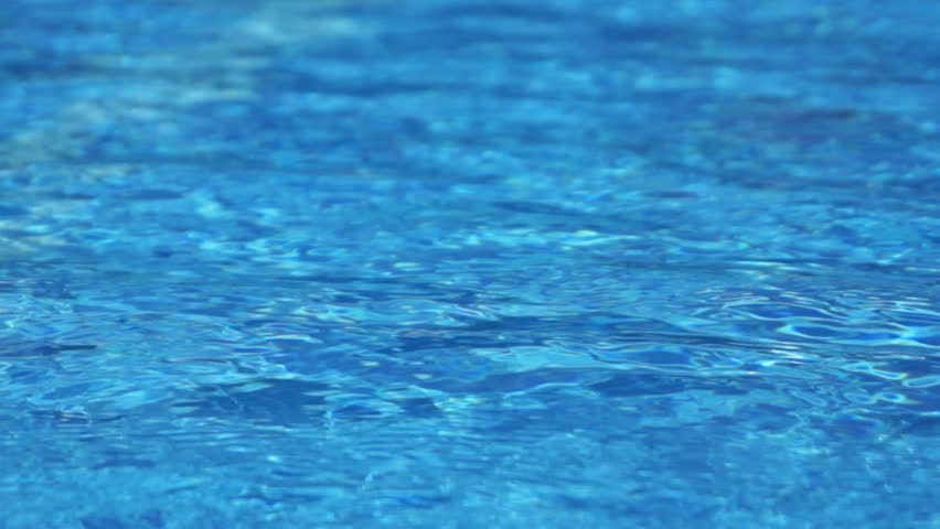Blue Swimming Pool Water Background Stock Footage Video
