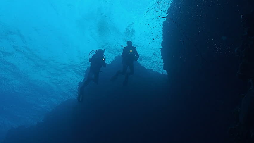 Scuba divers at coral reef, red sea   Shutterstock HD Video #4311557