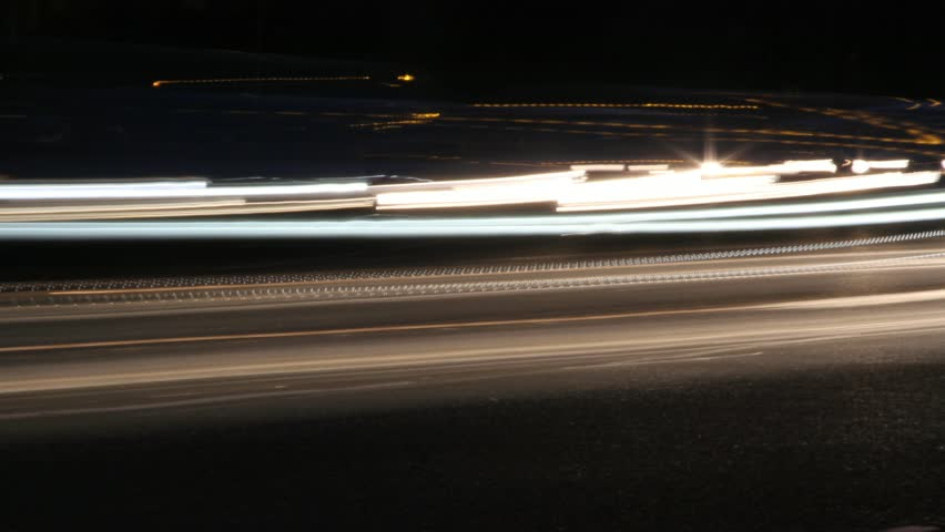 Close up of traffic speeding by. #4352177
