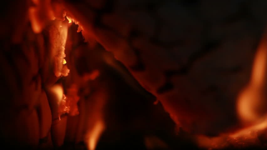 Crack Logs Engulfed by Flames #4357457