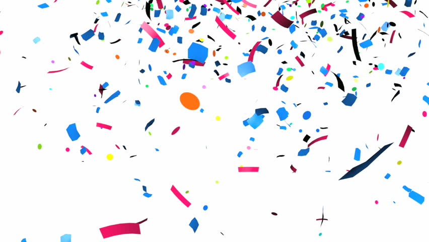 Animation of colorful confetti falling | Shutterstock HD Video #4358978