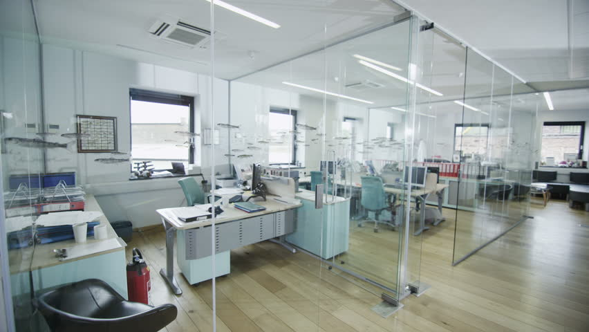 View around a stylish contemporary office space with no people | Shutterstock HD Video #4389074