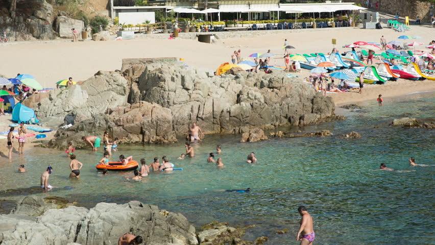 a beautiful bay on the spanish costa brava coast