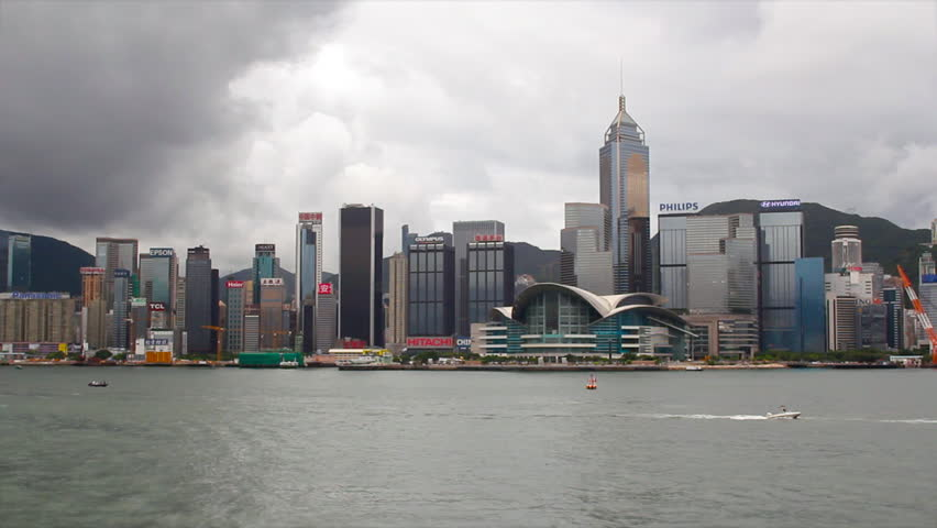 Time Lapse Hong Kong Victoria Harbour with boat | Shutterstock HD Video #4403867