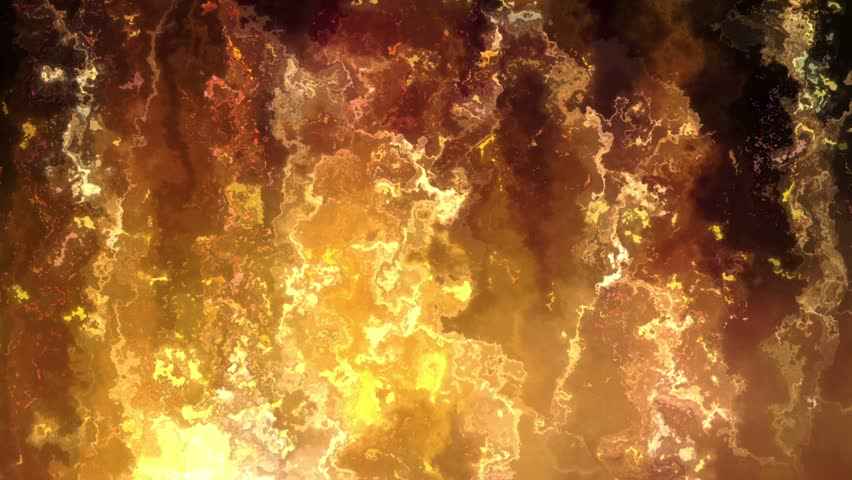 Abstract motion background in gold colors, shining lights, energy waves  and sparkling  particles, seamless looping.