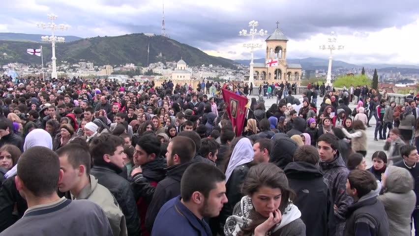 Massdemonstration i tblisi