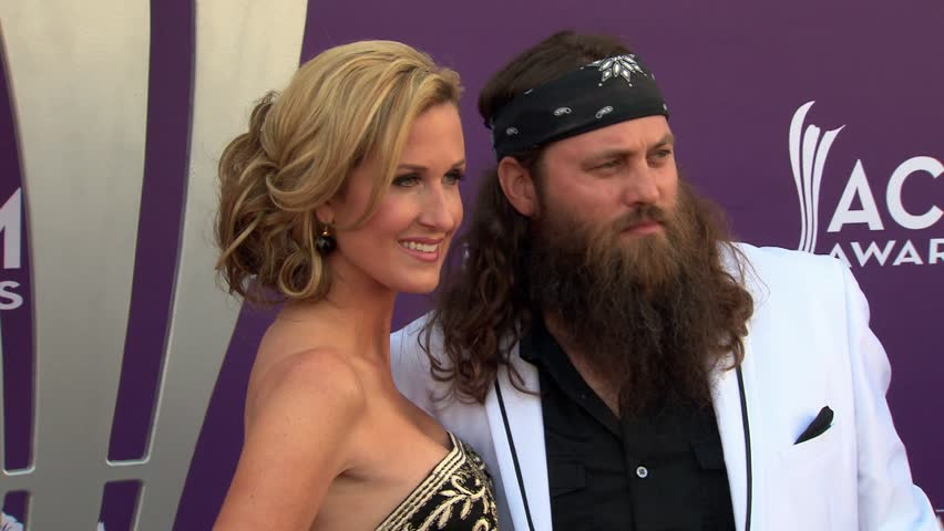 LAS VEGAS - April 7, 2013: Willie Robertson and Korie Robertson and Duck Dynasty at the Academy of Country Music Awards 2013 in the MGM Grand Garden Arena in Las Vegas April 7, 2013