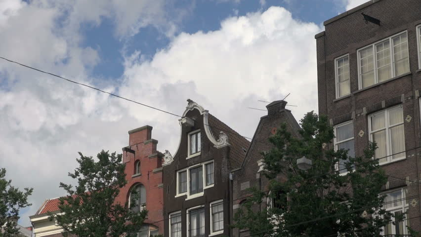 Amsterdam gables and clouds | Shutterstock HD Video #4477187