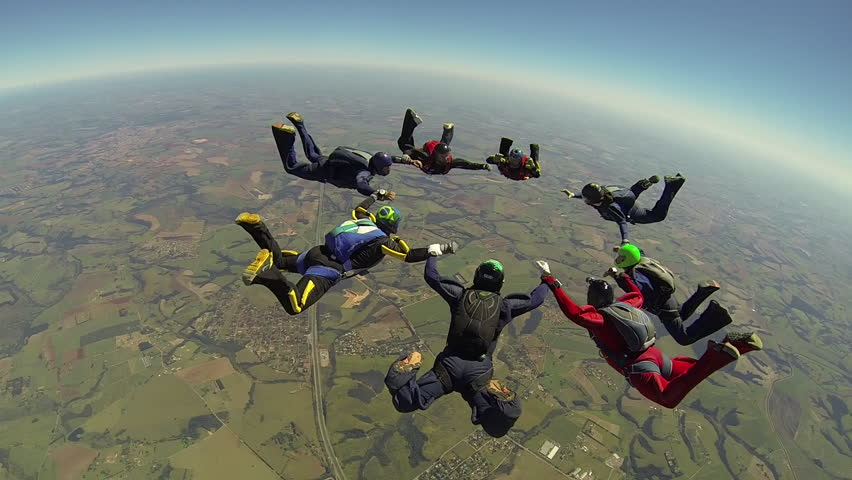 Skydiving formation | Shutterstock HD Video #4489157