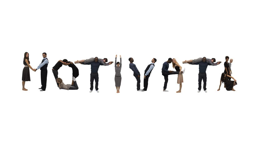 Flexible people - Unique horizontal point of view for this take on alphabet people forming the word 'MOTIVATE'. Spelling the word out of a combination of interesting moves and holds. | Shutterstock HD Video #4503137