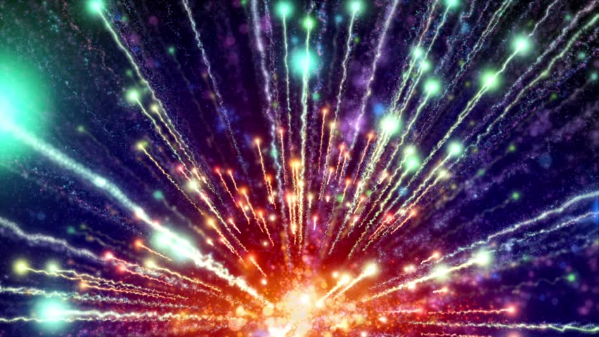 Rainbow Fireworks Celebration Colorful Abstract Image With: Abstract Motion Rainbow Colors Background, Shining Lights