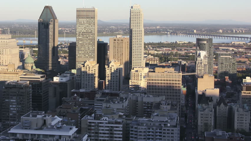 Montreal Central Day to Night Time-lapse Cityscape from Mont Royal  | Shutterstock HD Video #4510580