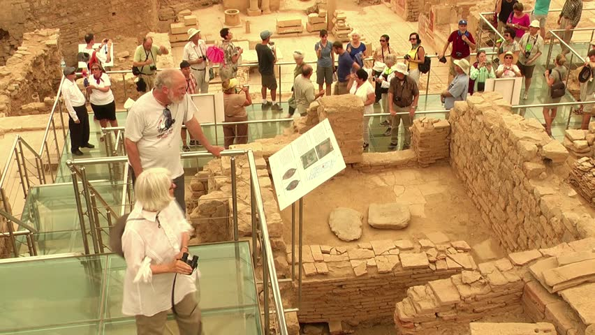 EPHESUS TURKEY - AUGUST 15 Tourists visiting Ephesus (Efes) an ancient & Woman Made Childu0027s Toy Tepee Tent Of Native American Made Of ...