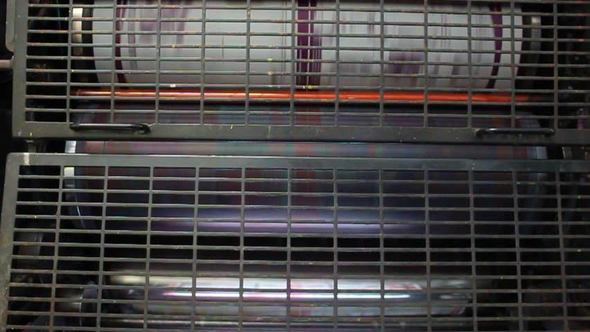 Offset printing machine | Shutterstock HD Video #4519967