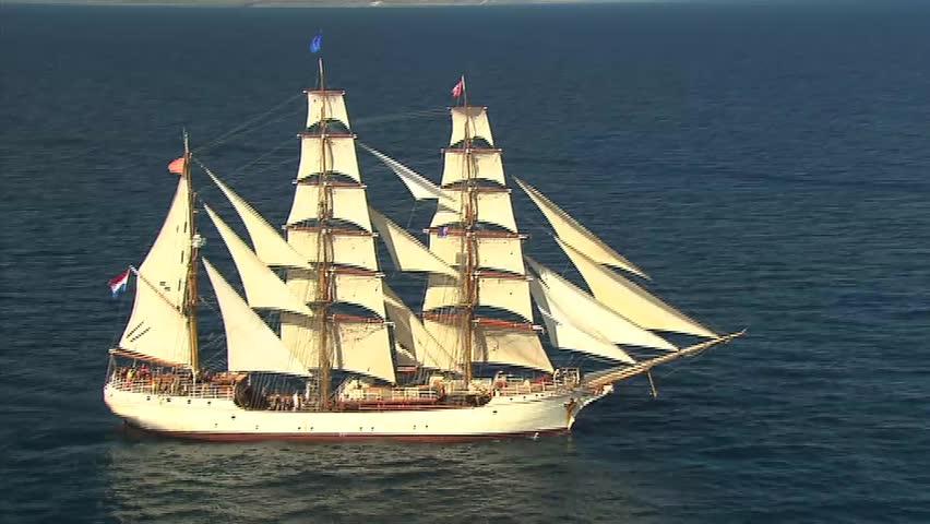 aerial tall ship