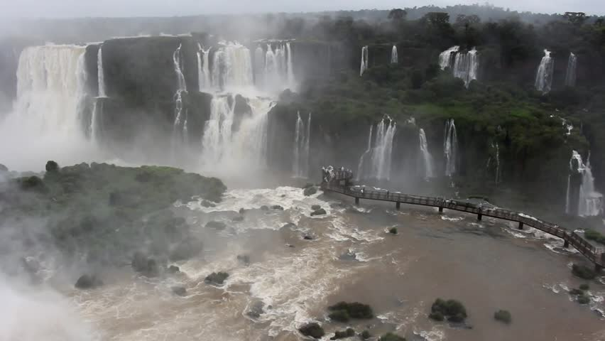 Iguazu Falls in the Iguazu National Park. Brasil