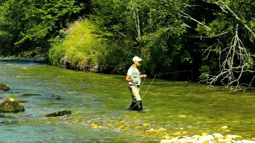 Fly fishing   | Shutterstock HD Video #4566797
