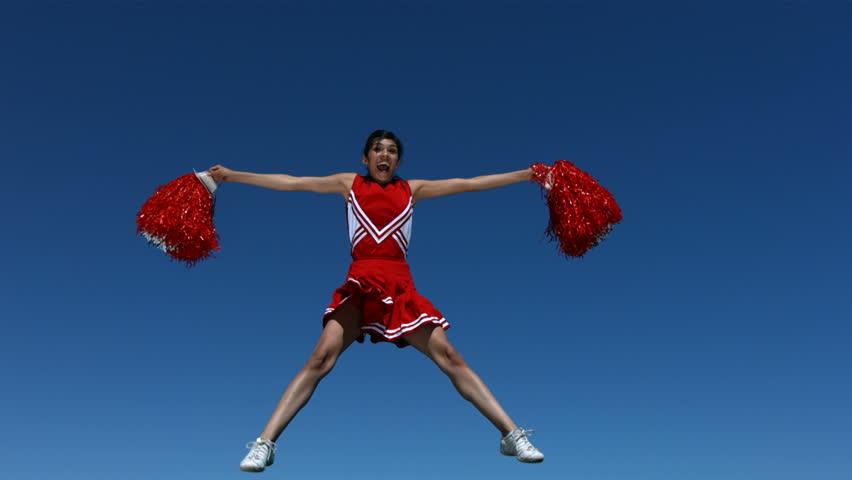 Header of cheerleader