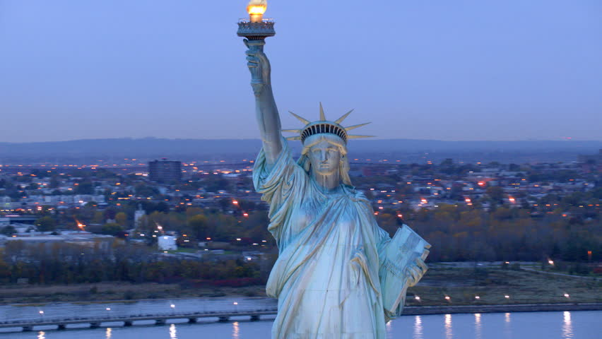 Statue of Liberty at dusk | Shutterstock HD Video #4580147