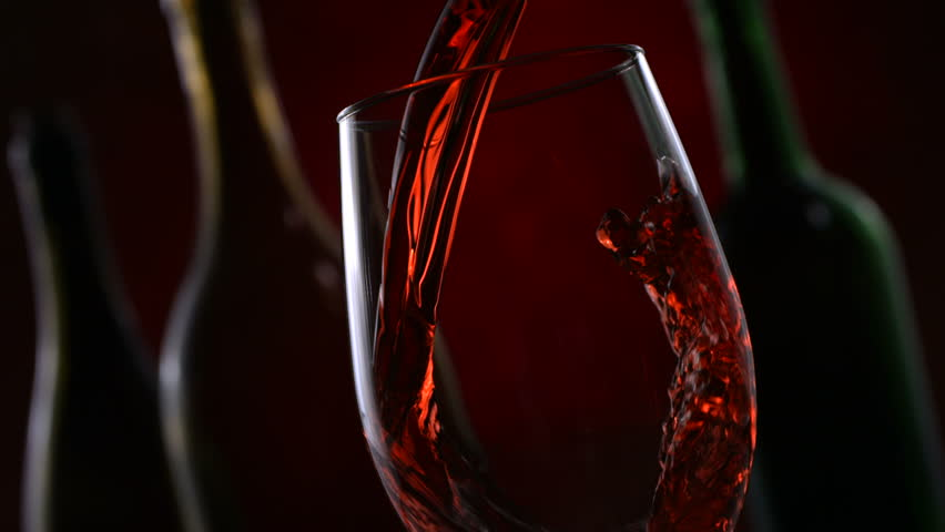 Red wine pouring, slow motion #4594307