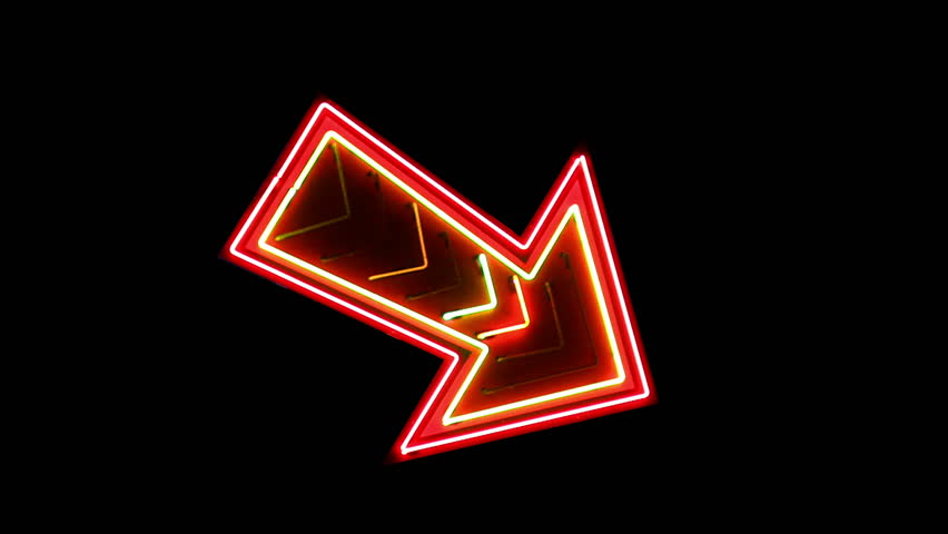 Large Neon Arrow Loop | Shutterstock HD Video #4613597