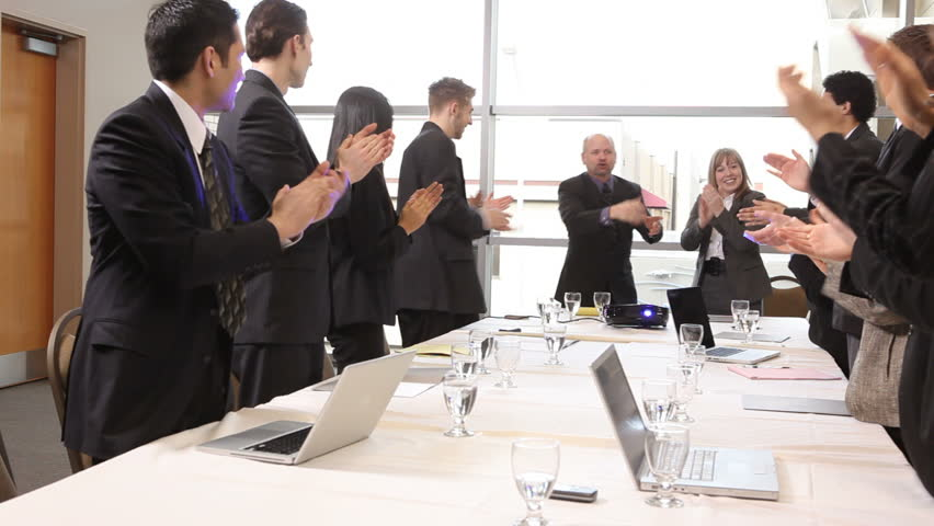 Businesspeople clapping during presentation | Shutterstock HD Video #4632482