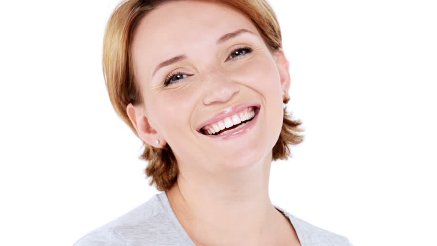 Beautiful Happy Surprised Woman With Positive Emotions