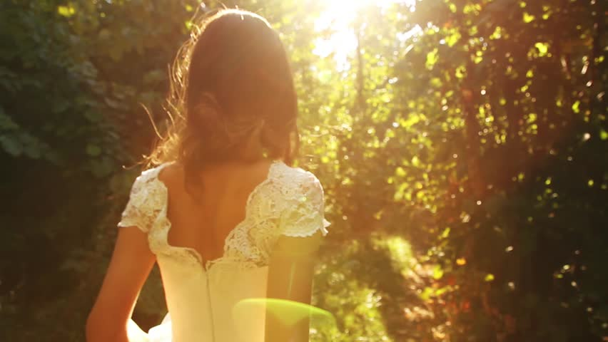 Princess Dress Forest Young Beautiful Woman Road Background