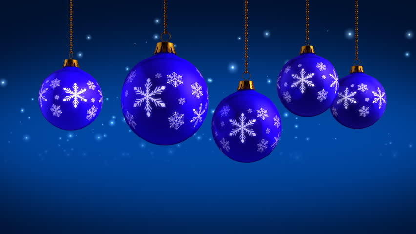 Stock Video Of White Christmas Balls Animation Hd