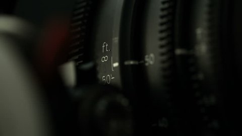 Behind the Scenes, Professional cinema camera lens focus numbers