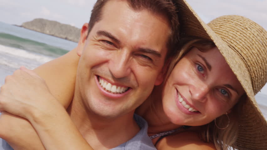 Portrait of couple at beach, Costa Rica | Shutterstock HD Video #4753517