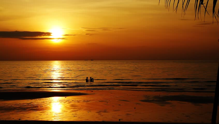 Beautiful beach sunset in Thailand island