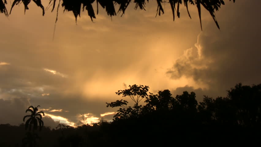Tropical sunset timelapse in the Ecuadorian Amazon