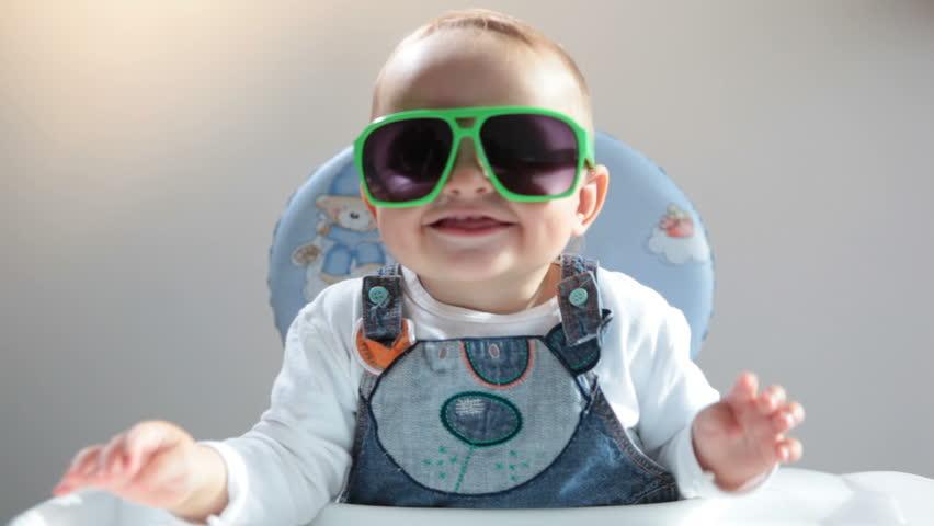 Baby in sunshades