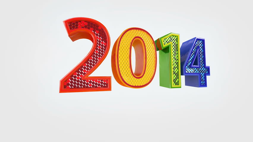 New Year 2014 animated presentation 3d screensaver. + Alpha