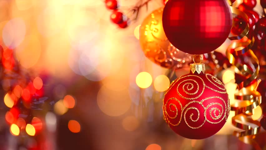Christmas and New Year Decoration. Abstract Blurred Bokeh Holiday Background. Blinking Garland. Christmas Tree Lights Twinkling. | Shutterstock HD Video #4820945