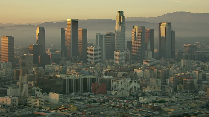 Aerial view of Los Angeles  | Shutterstock HD Video #4828907
