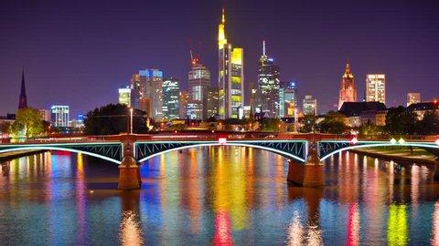 Frankfurt, Germany above the Main River.