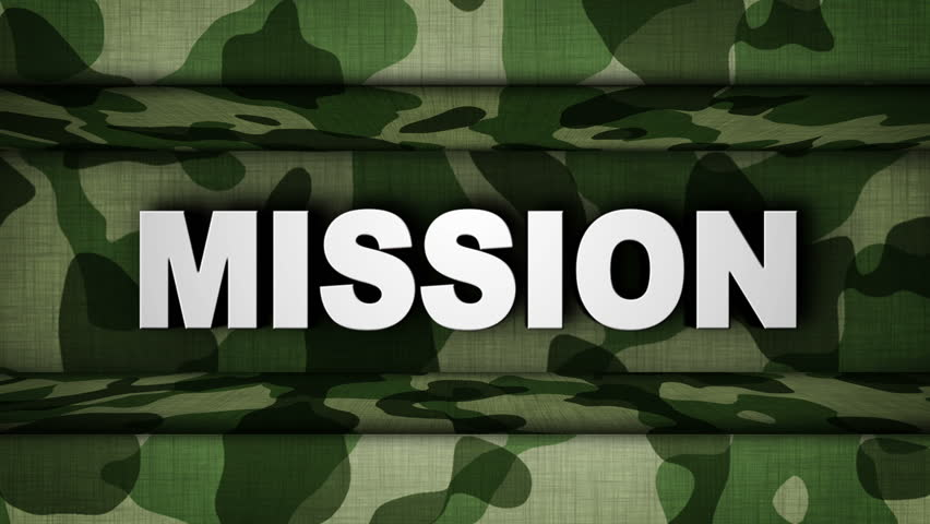 Стоковое видео mission text in military door абсолютно без